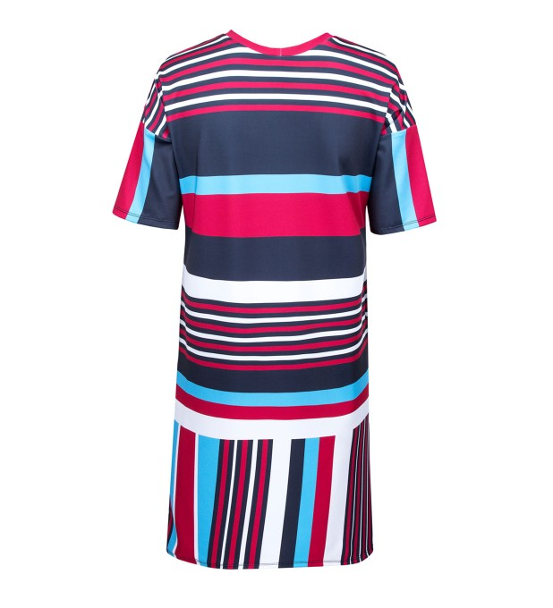 Stripes here stripes there short sleeve dress Miniature 2