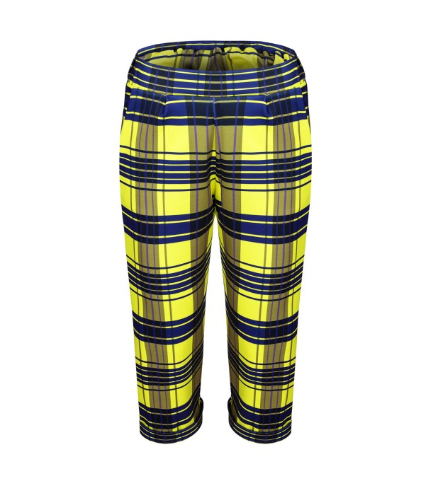 Yellow check trousers Thumbnail 1