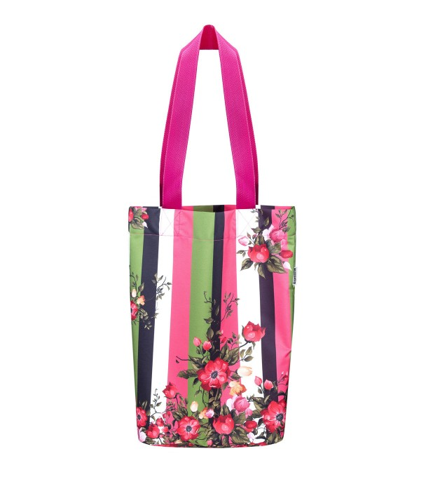 Green-pink wallpaper beach bag Miniatura 1