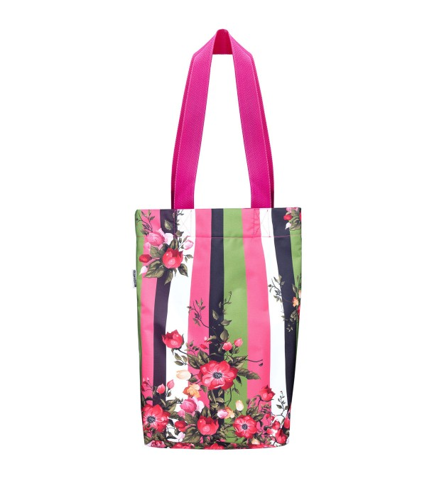 Green-pink wallpaper beach bag Miniatura 2