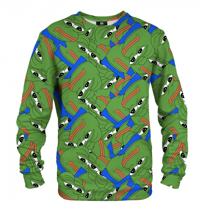 Pepe the frog pattern sweater Miniatura 2