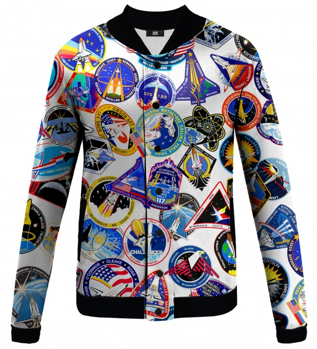 Nasa Stickers baseball jacket Thumbnail 1