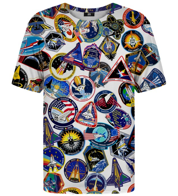 Nasa Stickers t-shirt Miniatura 1