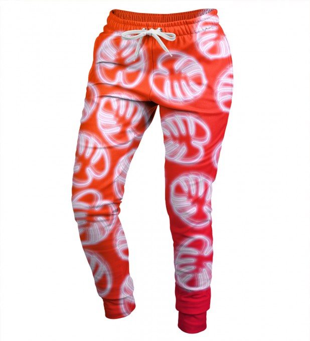 Neon Red womens sweatpants Miniatura 1