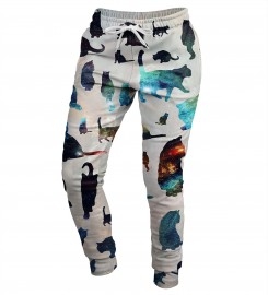 Mr. Gugu & Miss Go, Galaxy Cats womens sweatpants Miniatura $i