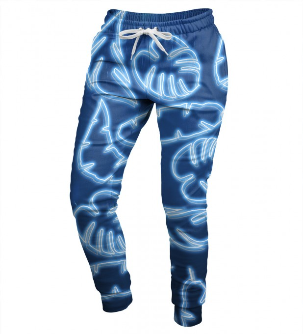 Neon Blue womens sweatpants Miniature 1