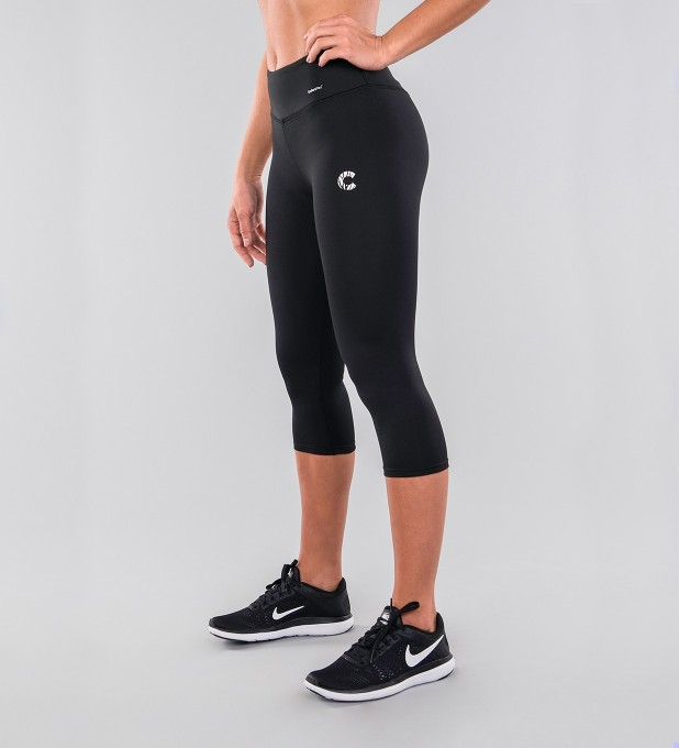 Black Classic Capri Leggings Miniature 1