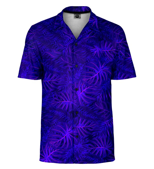 Tropical Dark Blue Shirt Miniaturbild 1