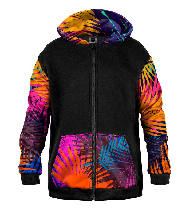 Colorful Palm Cotton Zip Up Hoodie Thumbnail 1