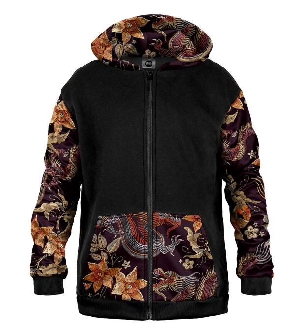Japanese Dragon Cotton Zip Up Hoodie Thumbnail 1
