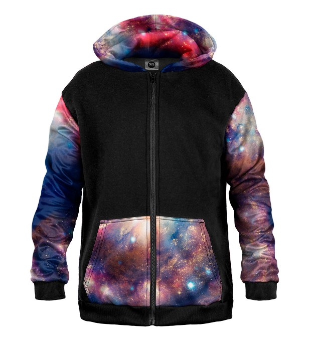 Red Blue Nebula Cotton Zip Up Hoodie Thumbnail 1