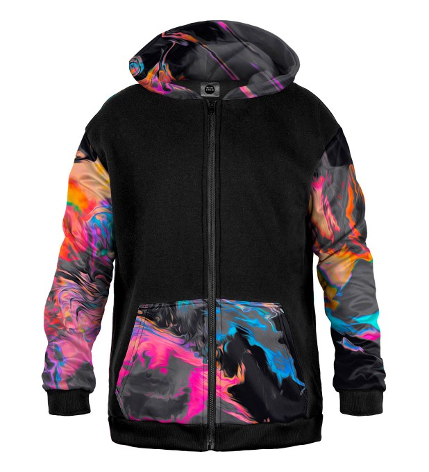 Space Colours Cotton Zip Up Hoodie Miniatura 1
