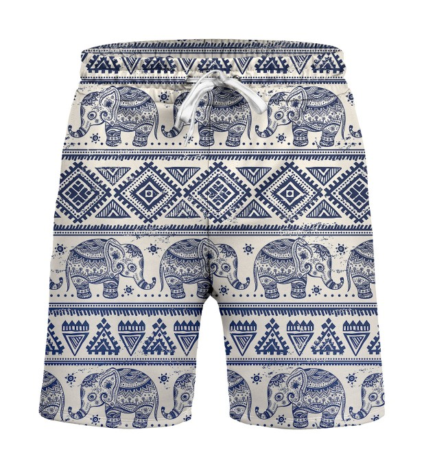 Elephants Pattern Shorts Miniature 1
