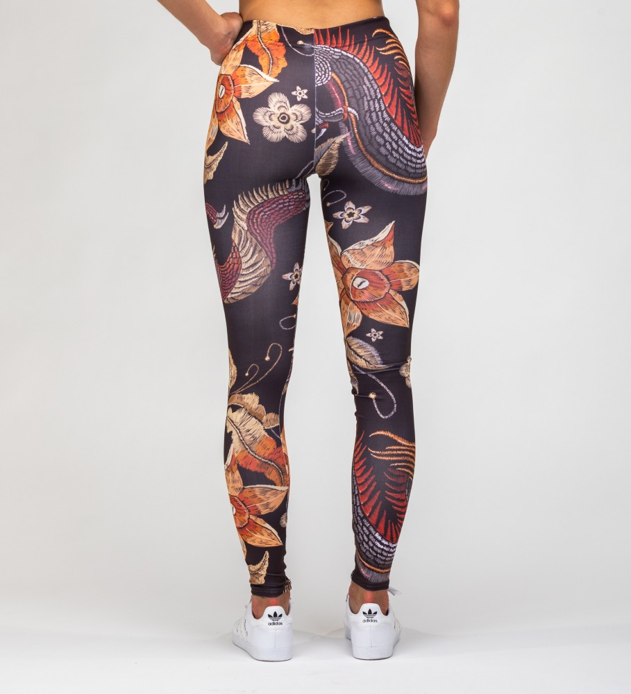 Mr. Gugu & Miss Go, Japanese Dragon Leggings Imagen $i