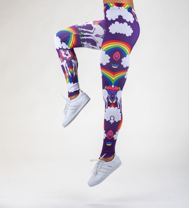 Rainbow Unicorns leggings Miniaturbild 2