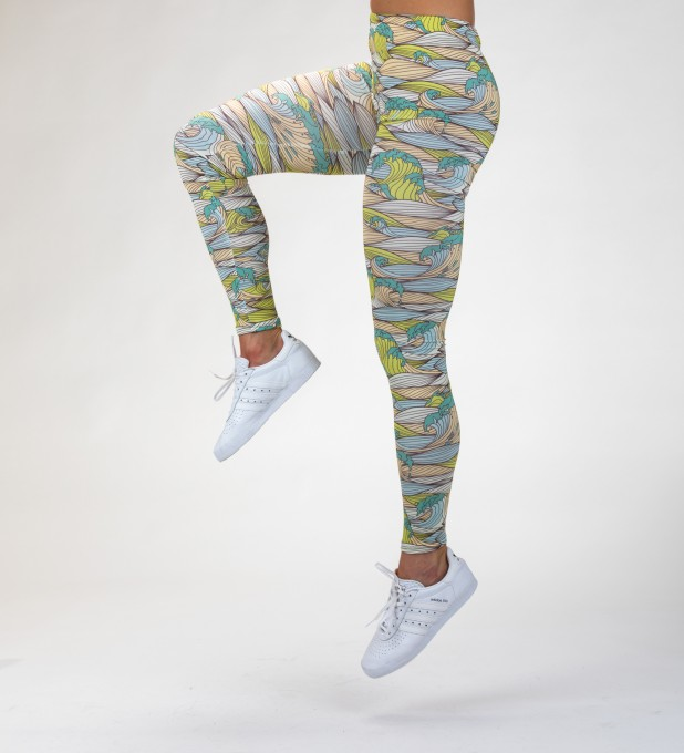 green waves Leggings Thumbnail 1