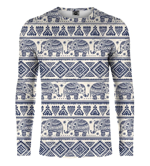 Elephants Pattern Longsleeve Miniature 1