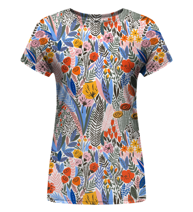 Floral Pattern womens t-shirt Thumbnail 1