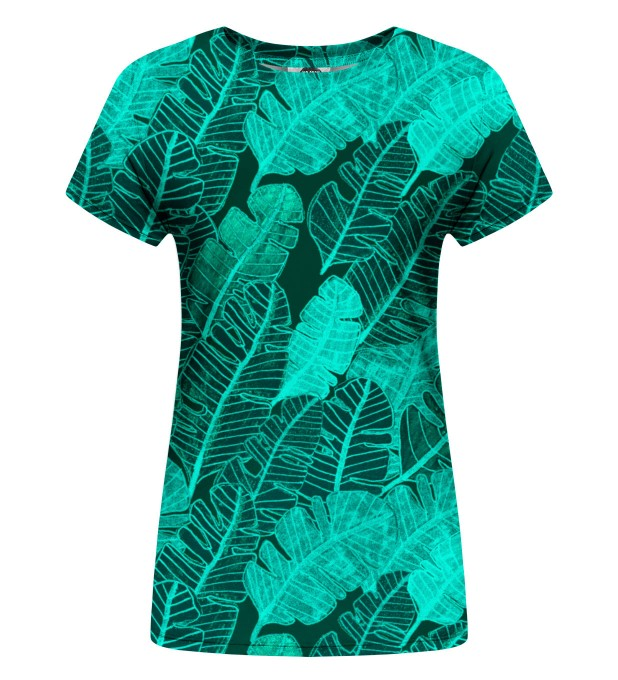 Tropical Leaves womens t-shirt Thumbnail 1