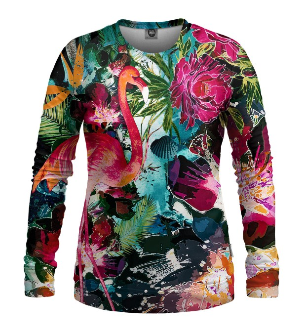 Colorful Flamingo womens sweater1 Thumbnail 1