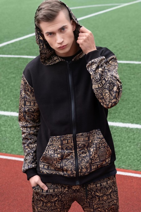 Asian Dragon Cotton Zip Up Hoodie Thumbnail 2