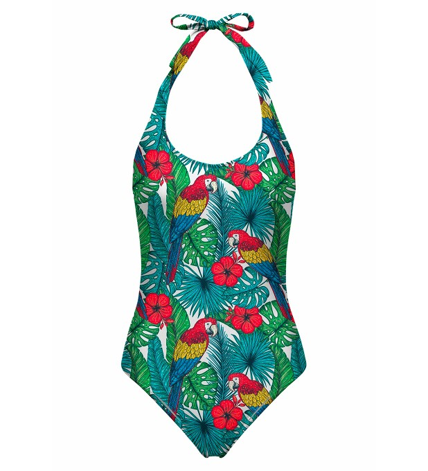 Colorful Parrots open back swimsuit аватар 1