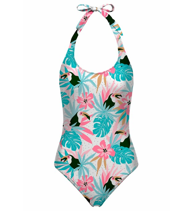 Toucans in flowers open back swimsuit аватар 1