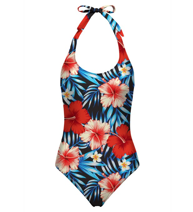 Tropical flowers open back swimsuit аватар 1