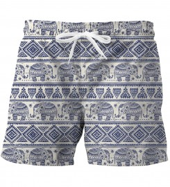 Mr. Gugu & Miss Go, Elephants Pattern swim trunks1 Thumbnail $i