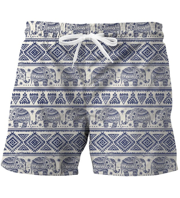 Elephants Pattern swim trunks Miniature 1