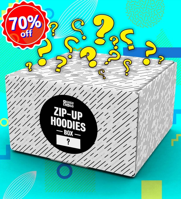 1 piece Mystery Hoodie Zip-Up box Miniature 1