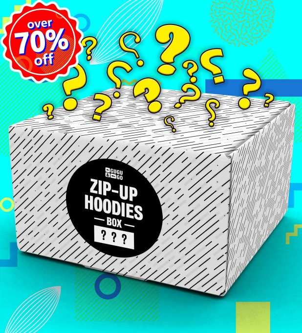 3 pieces Mystery Hoodie Zip-Up box Miniatura 1