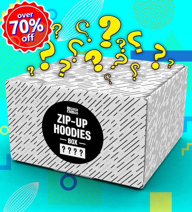 4 pieces Mystery Hoodie Zip-Up box Miniature 1