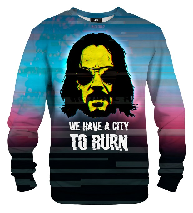 City to burn sweatshirt Miniaturbild 1