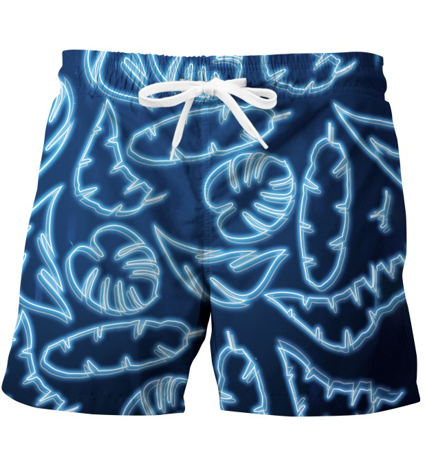 Neon Blue swim trunks Miniature 1