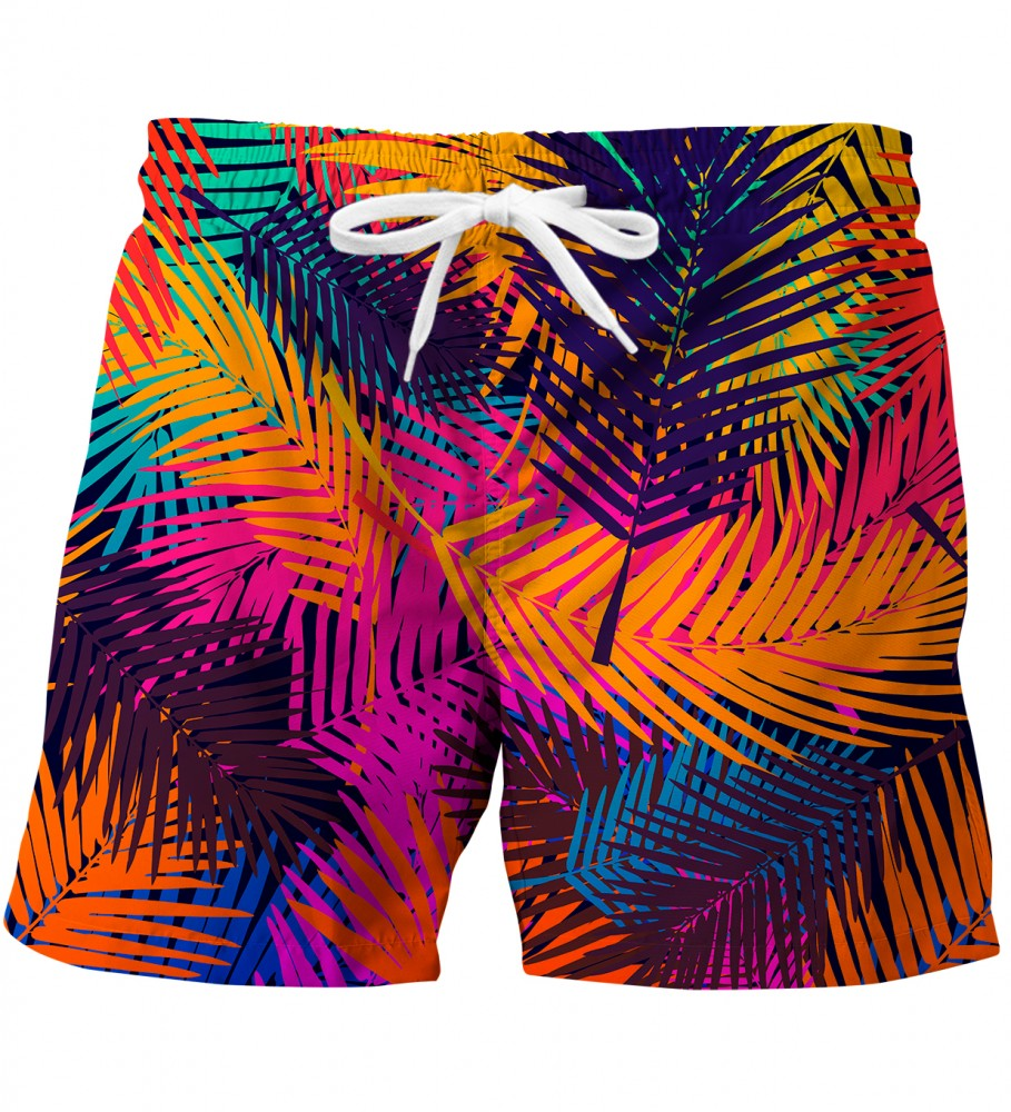 Mr. Gugu & Miss Go, Colorful Palm swim trunks Imagen $i