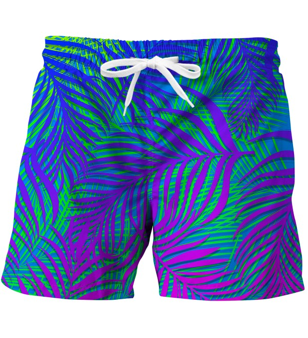 Blue Palm swim trunks Miniature 1