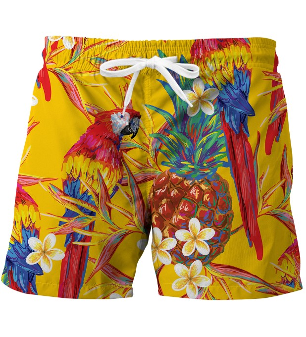 Paradise Parrots swim trunks Miniature 1
