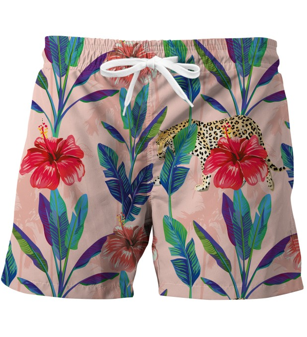 Floral Cheetah swim trunks Miniatura 1