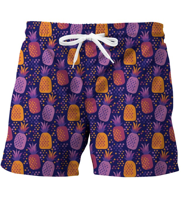 Colorful Pineapples swim trunks Miniature 1