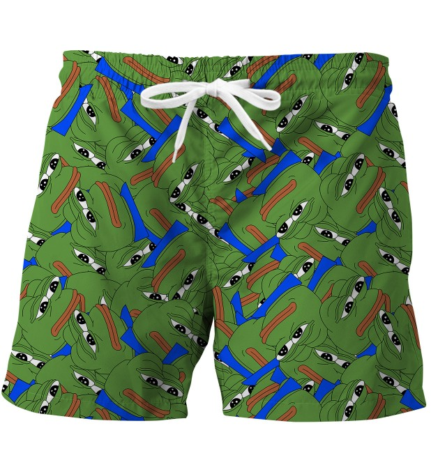 Pepe the frog pattern swim trunks Miniature 1
