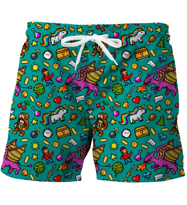 Pixel Game swim trunks Miniature 1