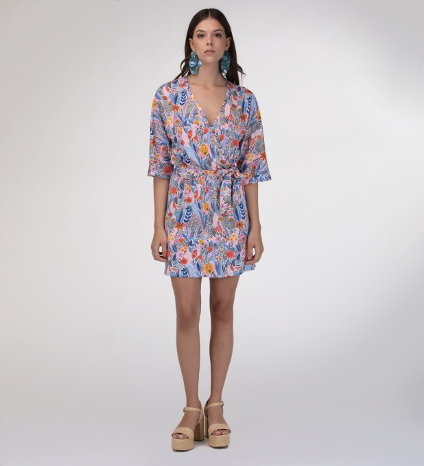 Floral pattern envelope dress аватар 2