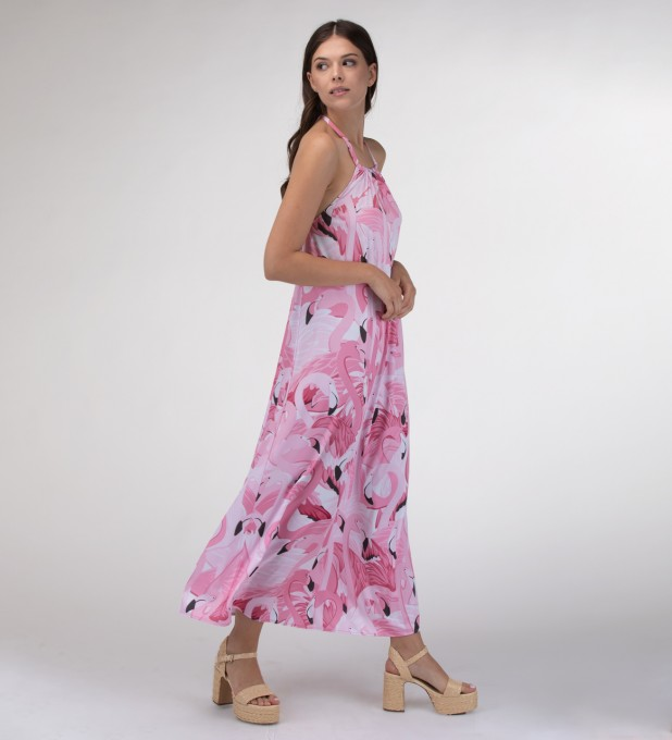 Flamingo Flock Halter dress Miniatura 2