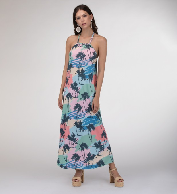 Pacific Lights Halter dress Miniatura 1