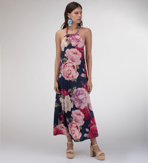 Vase of peonies Halter dress Miniatura 1