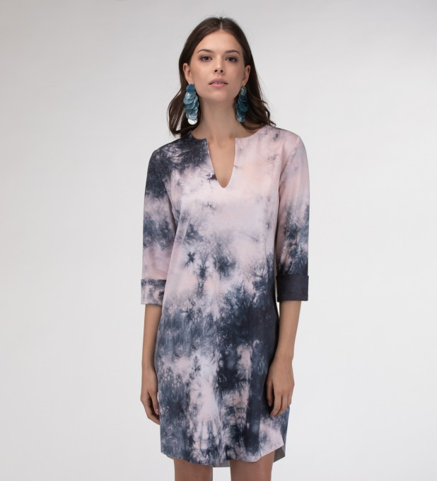 Storm Tie dye Shirt dress Miniatura 1