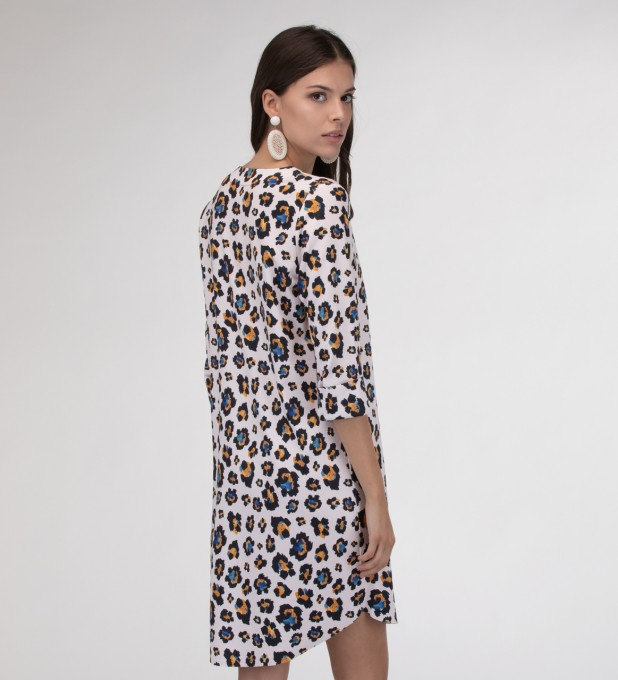 Leopard speckles Shirt dress Miniatura 2