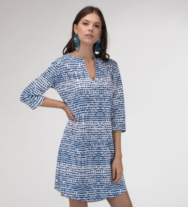 Ocean drops Shirt dress Miniatura 1