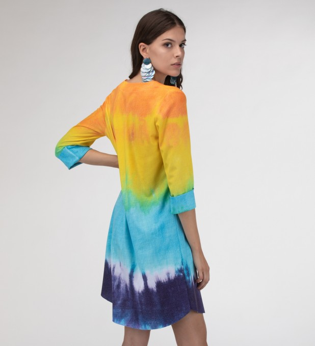 Splashy Tie Dye Shirt dress Miniatura 2